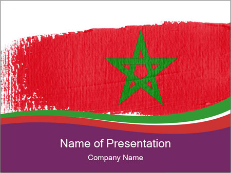 Flag Of Morocco PowerPoint Templates