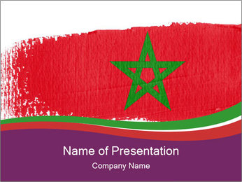 Flag Of Morocco PowerPoint Templates - Slide 1