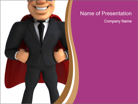 Man With Superpower PowerPoint Template
