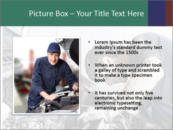 Auto mechanic repairing a car engine PowerPoint Template - Slide 13