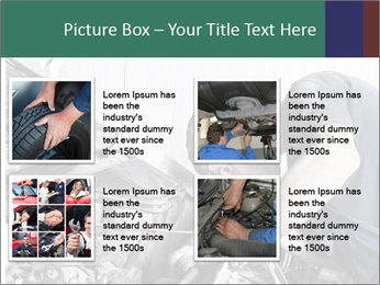 Auto mechanic repairing a car engine PowerPoint Template - Slide 14