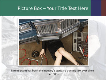 Auto mechanic repairing a car engine PowerPoint Template - Slide 15