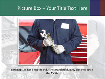Auto mechanic repairing a car engine PowerPoint Template - Slide 16