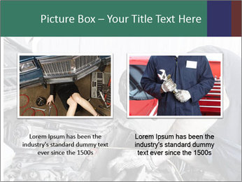 Auto mechanic repairing a car engine PowerPoint Template - Slide 18