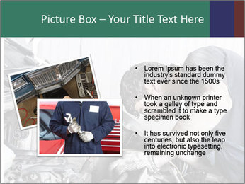 Auto mechanic repairing a car engine PowerPoint Templates - Slide 20
