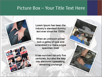 Auto mechanic repairing a car engine PowerPoint Template - Slide 24