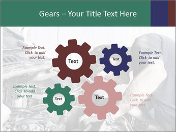 Auto mechanic repairing a car engine PowerPoint Template - Slide 47