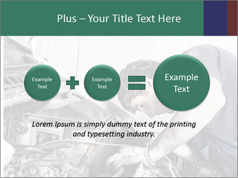Auto mechanic repairing a car engine PowerPoint Template - Slide 75