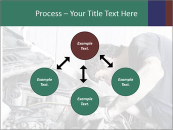 Auto mechanic repairing a car engine PowerPoint Templates - Slide 91