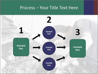 Auto mechanic repairing a car engine PowerPoint Templates - Slide 92