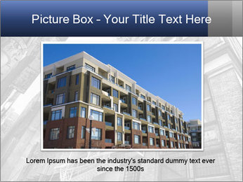 Black and white building PowerPoint Templates - Slide 15