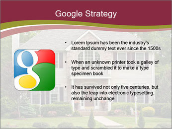 A large custom built luxury house in a residential neighborhood PowerPoint Template - Slide 10