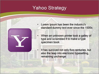 A large custom built luxury house in a residential neighborhood PowerPoint Template - Slide 11