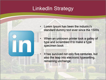 A large custom built luxury house in a residential neighborhood PowerPoint Template - Slide 12