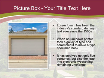 A large custom built luxury house in a residential neighborhood PowerPoint Templates - Slide 13