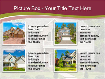 A large custom built luxury house in a residential neighborhood PowerPoint Template - Slide 14