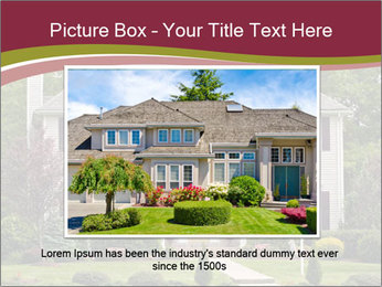 A large custom built luxury house in a residential neighborhood PowerPoint Templates - Slide 15