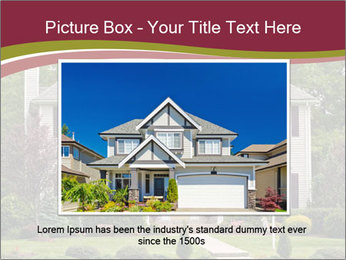 A large custom built luxury house in a residential neighborhood PowerPoint Templates - Slide 16