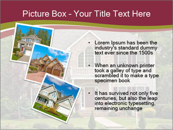 A large custom built luxury house in a residential neighborhood PowerPoint Templates - Slide 17