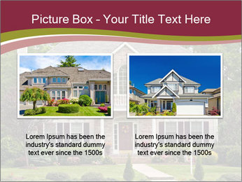 A large custom built luxury house in a residential neighborhood PowerPoint Template - Slide 18