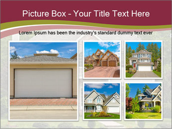A large custom built luxury house in a residential neighborhood PowerPoint Templates - Slide 19