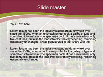 A large custom built luxury house in a residential neighborhood PowerPoint Templates - Slide 2