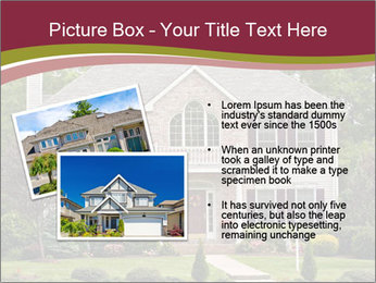 A large custom built luxury house in a residential neighborhood PowerPoint Templates - Slide 20