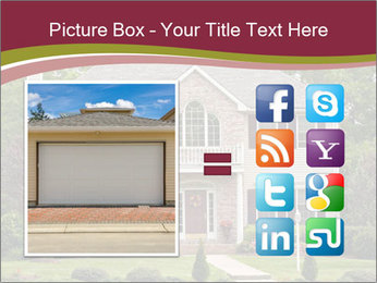 A large custom built luxury house in a residential neighborhood PowerPoint Templates - Slide 21