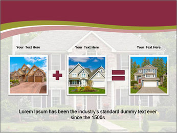 A large custom built luxury house in a residential neighborhood PowerPoint Template - Slide 22