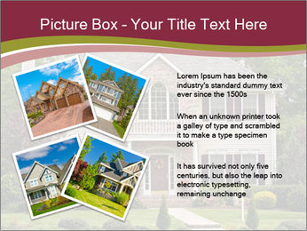 A large custom built luxury house in a residential neighborhood PowerPoint Templates - Slide 23