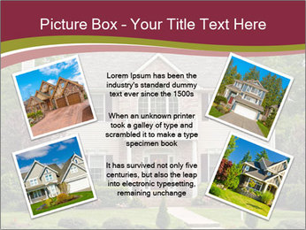 A large custom built luxury house in a residential neighborhood PowerPoint Templates - Slide 24