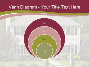 A large custom built luxury house in a residential neighborhood PowerPoint Template - Slide 34