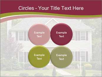 A large custom built luxury house in a residential neighborhood PowerPoint Templates - Slide 38