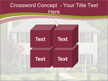 A large custom built luxury house in a residential neighborhood PowerPoint Templates - Slide 39