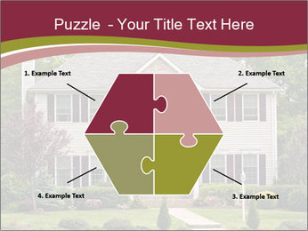 A large custom built luxury house in a residential neighborhood PowerPoint Templates - Slide 40