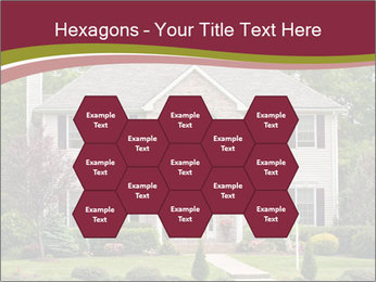 A large custom built luxury house in a residential neighborhood PowerPoint Templates - Slide 44