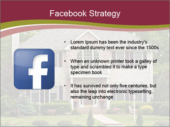 A large custom built luxury house in a residential neighborhood PowerPoint Templates - Slide 6