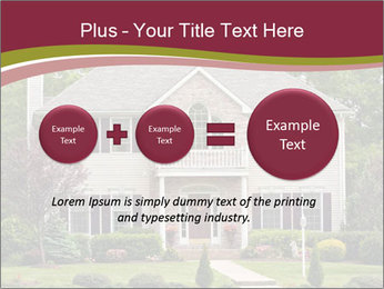 A large custom built luxury house in a residential neighborhood PowerPoint Template - Slide 75