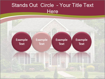 A large custom built luxury house in a residential neighborhood PowerPoint Templates - Slide 76