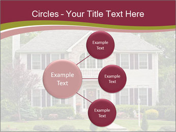 A large custom built luxury house in a residential neighborhood PowerPoint Templates - Slide 79
