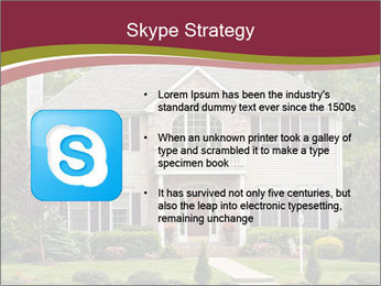 A large custom built luxury house in a residential neighborhood PowerPoint Template - Slide 8