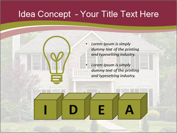 A large custom built luxury house in a residential neighborhood PowerPoint Templates - Slide 80