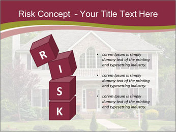 A large custom built luxury house in a residential neighborhood PowerPoint Templates - Slide 81