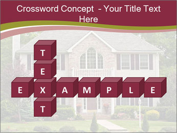 A large custom built luxury house in a residential neighborhood PowerPoint Templates - Slide 82