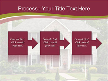 A large custom built luxury house in a residential neighborhood PowerPoint Template - Slide 88