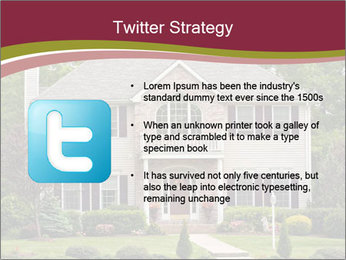 A large custom built luxury house in a residential neighborhood PowerPoint Template - Slide 9
