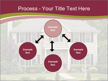 A large custom built luxury house in a residential neighborhood PowerPoint Templates - Slide 91