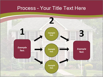 A large custom built luxury house in a residential neighborhood PowerPoint Template - Slide 92