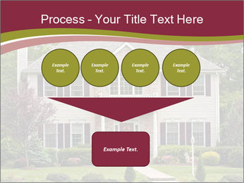 A large custom built luxury house in a residential neighborhood PowerPoint Template - Slide 93