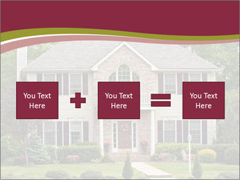 A large custom built luxury house in a residential neighborhood PowerPoint Templates - Slide 95